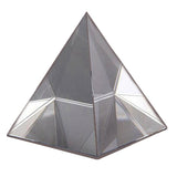 Divya Mantra Feng Shui Crystal Glass Pyramid For Spiritual Healing, Vastu Correction and Balancing - 7 cm