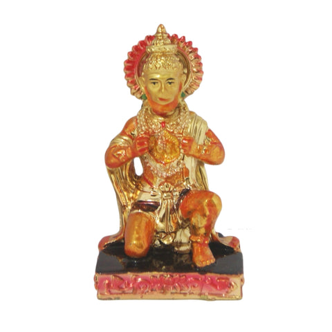 Divya Mantra Hindu God Hanuman Idol Sculpture Statue Murti For Puja / Car Dashboard