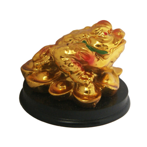 Divya Mantra Feng Shui King Money Toad Three Legged Frog on Ingots For Prosperity Financial Business Good Luck