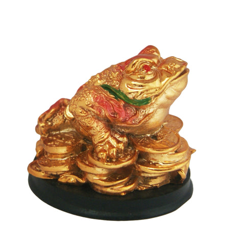Divya Mantra Feng Shui King Money Toad Three Legged Frog on Wealth Bed For Prosperity Financial Business Good Luck