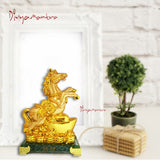 Divya Mantra Feng Shui Yang Horse on Ingot and Wealth for Success Fame Popularity and Money Luck