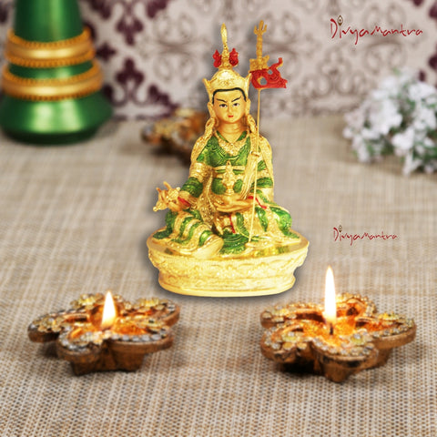 Divya Mantra Lady Buddha / Guan Yin / Kwan Yin / Kuan Yin / Tara Devi Goddess of Mercy and Compassion Idol Sculpture Statue Murti - Divya Mantra