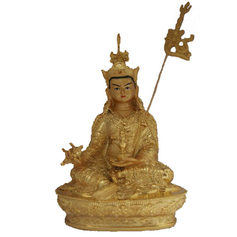 Divya Mantra Golden Lady Buddha / Guan Yin / Kwan Yin / Kuan Yin / Tara Devi Goddess of Mercy and Compassion Idol Sculpture Statue Murti