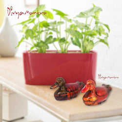 Divya Mantra Feng Shui Wish Fulfilling Pair of Mandarin Ducks Love Luck Bedroom Decor - Divya Mantra
