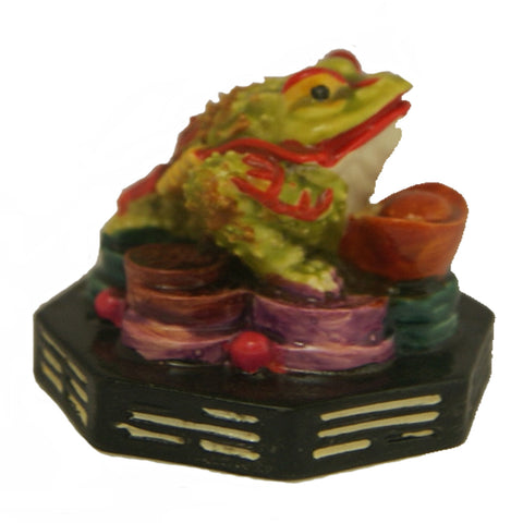 Divya Mantra Feng Shui King Money Toad Three Legged Frog on Ingot Yuan Bao Wealth For Prosperity Financial Business Good Luck