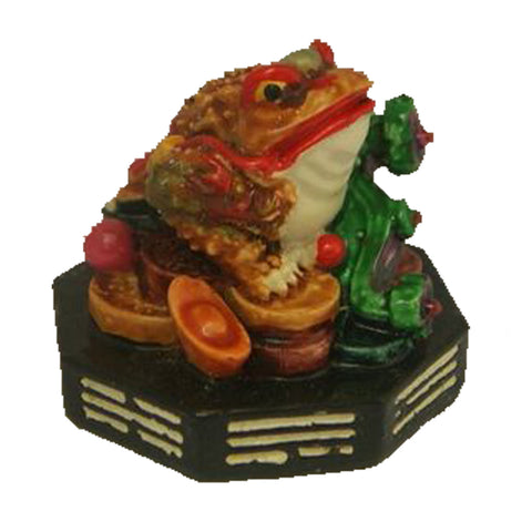 Divya Mantra Feng Shui King Money Toad Three Legged Frog Chan Chu on Wealth For Prosperity Financial Business Good Luck