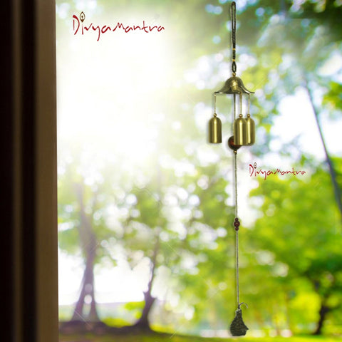 Divya Mantra Feng Shui Fengling Lotus Flower Metal Windchime For Good Luck - Divya Mantra