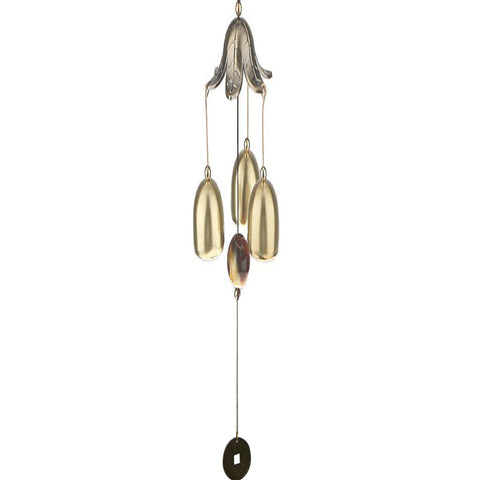 Divya Mantra Feng Shui Fengling Lotus Flower Metal Windchime For Good Luck