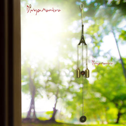 Divya Mantra Feng Shui Fengling Eiffel Tower Metal Windchime For Good Luck - Divya Mantra