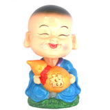 Divya Mantra Feng Shui Lovely Baby Buddha Wu Lou Gourd Swing Little Monk Car Interior Decoration Dashboard Accessories Spring Arts and Crafts Gift - Divya Mantra