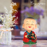 Divya Mantra Feng Shui Lovely Baby Happy Buddha Swing Little Monk Car Interior Decoration Dashboard Accessories Spring Arts And Crafts - Divya Mantra