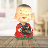 Divya Mantra Feng Shui Lovely Baby Happy Buddha Swing Little Monk Car Interior Decoration Dashboard Accessories Spring Arts And Crafts