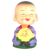 Divya Mantra Feng Shui Lovely Baby Buddha Swing Little Monk Car Interior Decoration Dashboard Accessories Spring Arts And Crafts - Divya Mantra