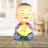 Divya Mantra Feng Shui Lovely Baby Buddha Swing Little Monk Car Interior Decoration Dashboard Accessories Spring Arts And Crafts