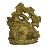 Divya Mantra Feng Shui King Money Toad Three Legged Frog on Coin Wealth Money Tree For Prosperity Financial Business Good Luck - Divya Mantra