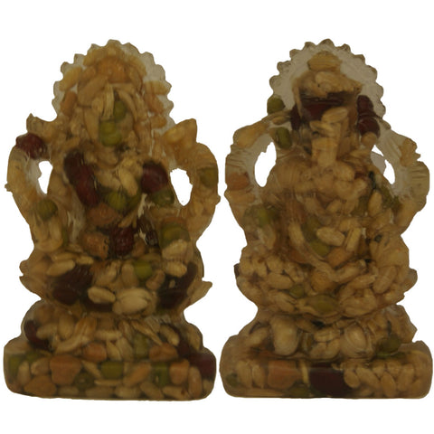 Divya Mantra Hindu God Idol Sculpture Statue Puja Murti Nav Dhan Laxmi Ganapathi 9 Grains For 9 Planets Ganesha Annapurna For Vastu