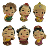 Divya Mantra Feng Shui Lovely Baby Tibetan Doll Gift Set of 6 Little Showpiece Car Interior Decoration Dashboard Accessories Arts And Crafts