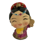 Divya Mantra Feng Shui Lovely Baby Tibetan Doll Gift Set of 6 Little Showpiece Car Interior Decoration Dashboard Accessories Arts And Crafts - Divya Mantra