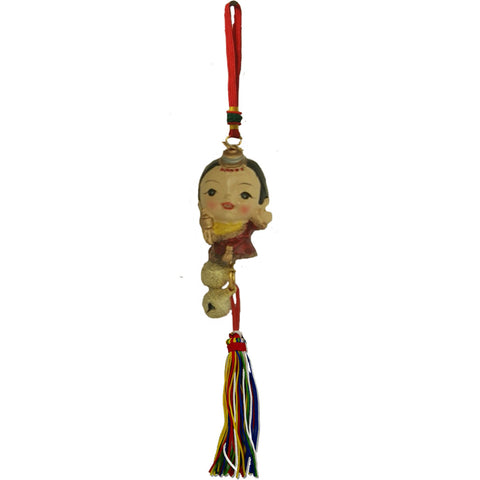 Divya Mantra Feng Shui Car Decoration Rear View Mirror Hanging Bell Accessories Tibetan Feng Shui Doll - Divya Mantra