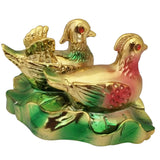 Divya Mantra Feng Shui Pair of Mandarin Ducks For Love Luck Bedroom Decor Gift