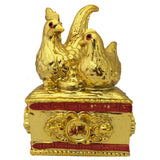 Divya Mantra Feng Shui Pair of Golden Mandarin Ducks For Love Luck Bedroom Decor Gift - Divya Mantra