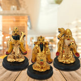 Divya Mantra Feng Shui Chinese Three Wise Men / 3 Lucky Immortals / Star Gods / Fu Lu Shou / Fuk Luk Sau Wealth Gods for Long Life, Fame and Fortune - Divya Mantra