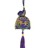 Divya Mantra Cute Potali / Money Bag Feng Shui Talisman Gift Pendant Amulet for Car Rear View Mirror Decor Ornament Accessories/Good Luck Charm Protection Interior Wall Hanging Showpiece - Divya Mantra