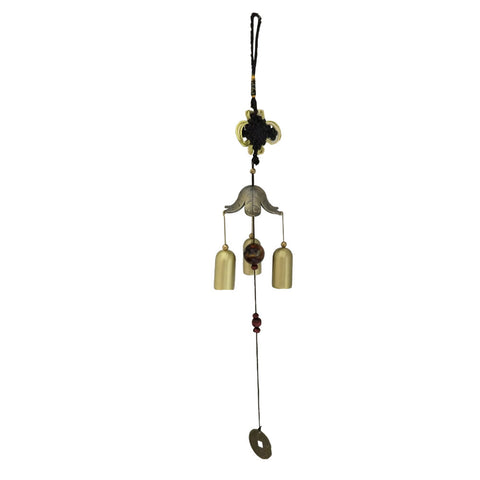 Divya Mantra Feng Shui Fengling Flower Metal Good Luck Windchime Gift For Home