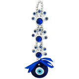 Divya Mantra Decorative Three 3 Devil Feet Evil Eye Pendant Amulet for Car Rear View Mirror Decor Ornament Accessories/Good Luck Charm Protection Interior Wall Hanging Showpiece - Divya Mantra
