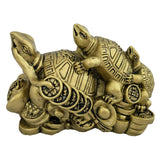 Divya Mantra Feng Shui Three Tiered Tortoises for Health Wealth & Luck