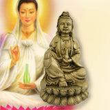 Divya Mantra Lady Buddha / Guan Yin / Kwan Yin / Kuan Yin /Tara Devi Goddess of Mercy and Compassion Idol Sculpture Statue Murti - Divya Mantra