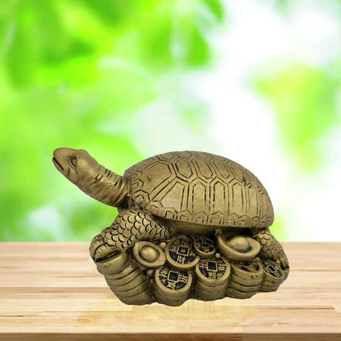 Divya Mantra Feng Shui Tortoise on Wealth Ingots For Longetivity, Prosperity, Wealth, Power and Success - Divya Mantra