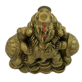 Divya Mantra Feng Shui King Money Toad Wealth Bed in Brass Finish for Prosperity Financial Business Good Luck