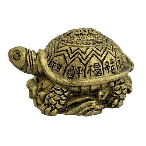 Divya Mantra Feng Shui Tortoise on Wealth Ingots for Longetivity, Prosperity, Wealth, and Success