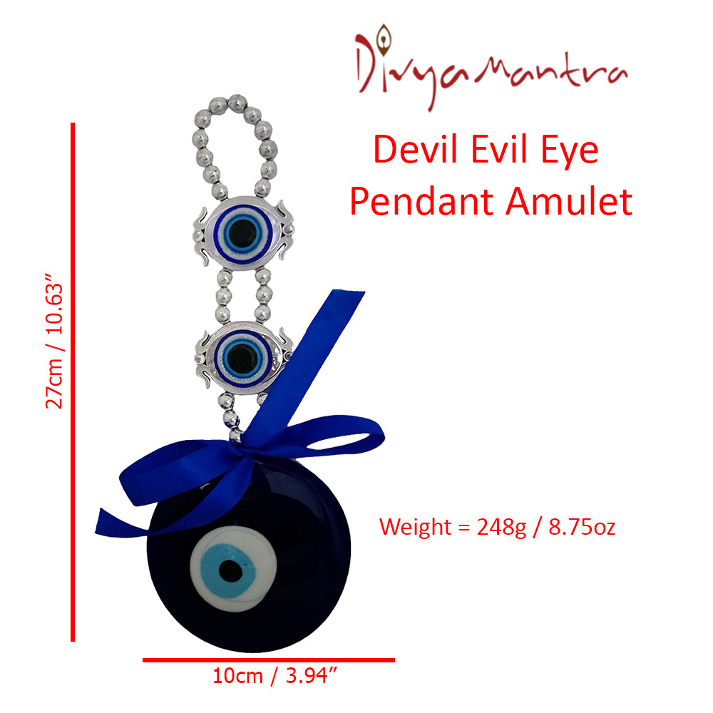 Divya Mantra Decorative Devil Evil Eye Pendant Amulet for Car Rear View  Mirror Decor Ornament Accessories/Good Luck Charm Protection Interior Wall