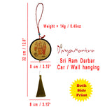 Divya Mantra Sri Ram Sita Laxman Hanuman Talisman Gift Pendant Amulet for Car Rear View Mirror Decor Ornament Accessories/Good Luck Charm Protection Interior Wall Hanging Showpiece - Combo Set of 2