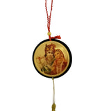 Divya Mantra Shri Radha Krishna Talisman Gift Pendant Amulet for Car Rear View Mirror Decor Ornament Accessories/Good Luck Charm Protection Interior Wall Hanging Showpiece - Divya Mantra