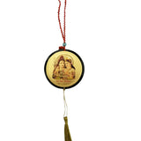 Divya Mantra Sri Shiva Parivar Talisman Gift Pendant Amulet for Car Rear View Mirror Decor Ornament Accessories/Good Luck Charm Protection Interior Wall Hanging Showpiece - Divya Mantra