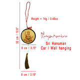 Divya Mantra Sri Bajrang Bali Hanuman Talisman Gift Pendant Amulet for Car Rear View Mirror Decor Ornament Accessories/Good Luck Charm Protection Interior Wall Hanging Showpiece - Divya Mantra