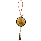 Divya Mantra Sri Durga Maa Talisman Gift Pendant Amulet for Car Rear View Mirror Decor Ornament Accessories/Good Luck Charm Protection Interior Wall Hanging Showpiece