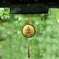 Divya Mantra Sri Shiv Mahadev Talisman Gift Pendant Amulet for Car Rear View Mirror Decor Ornament Accessories/Good Luck Charm Protection Interior Wall Hanging Showpiece - Divya Mantra