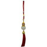 Divya Mantra Red Chinese Feng Shui Wu Lou Gourd Aroma Diffuser Talisman Gift Pendant Amulet Car Rear View Mirror Decor Ornament Accessories/ Good Luck Charm Protection Interior Wall Hanging Showpiece - Divya Mantra