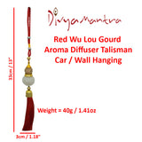 Divya Mantra Yellow Chinese Feng Shui Wu Lou Gourd Aroma Diffuser Gift Pendant Amulet for Car Rear View Mirror Decor Ornament Accessories / Good Luck Charm Protection Interior Wall Hanging Showpiece - Divya Mantra