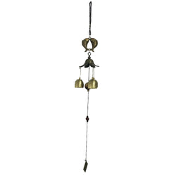 Divya Mantra Feng Shui 3 Fengling Bells Carp Fish Pair Metal Good Luck Bronze Windchime Gift For Home - Divya Mantra
