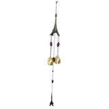 Divya Mantra Feng Shui 4 Fengling Bells Eiffel Tower Love Symbol Metal Good Luck Bronze Windchime Gift For Home - Divya Mantra