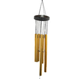 Divya Mantra Feng Shui Vastu 7 Pipe Metal Good Luck Windchime with Brown Windcatcher Gift For Home - Golden