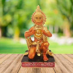 Divya Mantra Hindu God Sri Hanuman Idol Sculpture Statue Murti For Puja / Car Dashboard / Gift