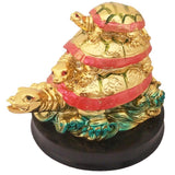 Divya Mantra Feng Shui Three Tiered Tortoise For Longevity, Descendant Luck, Career Progression and Protection from Bad Intentions - Divya Mantra