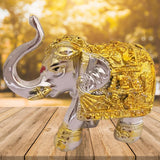Divya Mantra Feng Shui Trunk up Bejeweled Elephant For Prosperity Financial Business Strength Success Good Luck