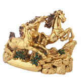 Divya Mantra Feng Shui Three 3 Running Horses for Fame Recognition, Power, Career Luck, Success and Good Luck